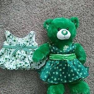 St Patrick's day bear with 2 dresses